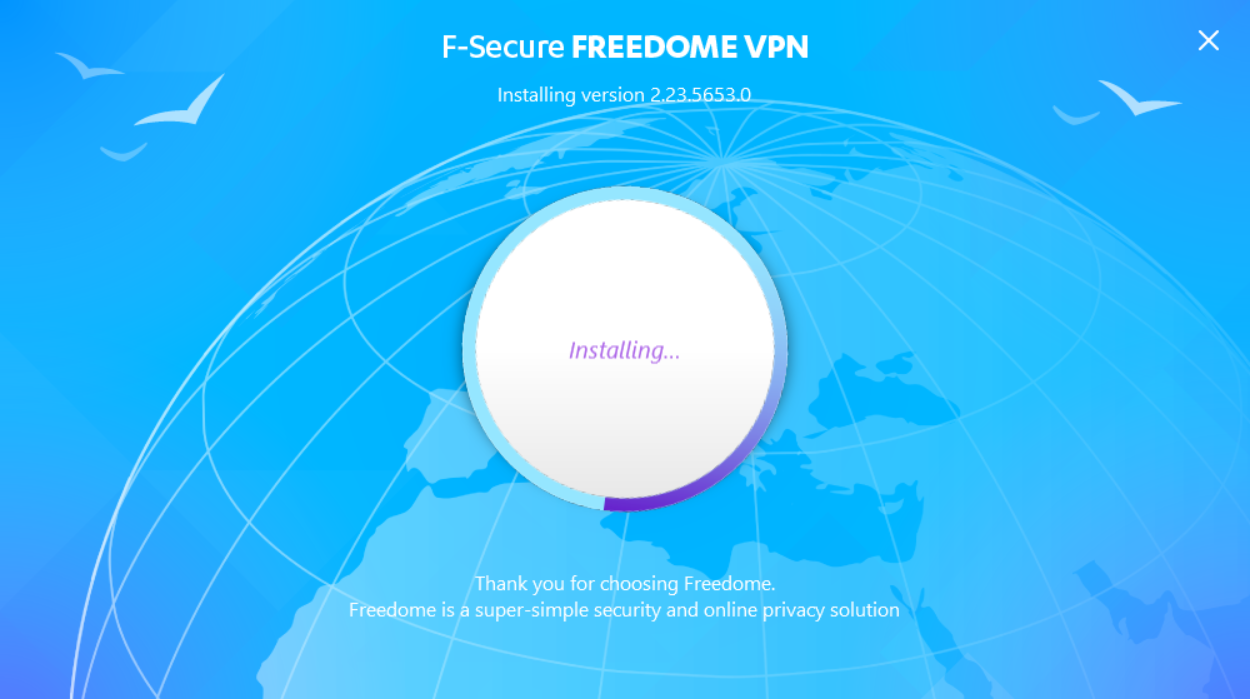 F-Secure Freedome installation