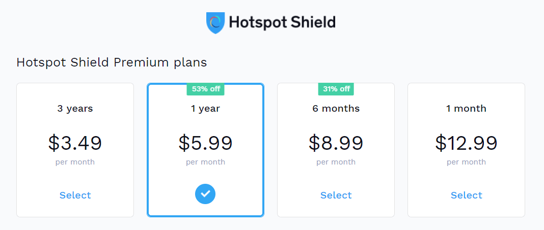 hotspot shield vpn pricing