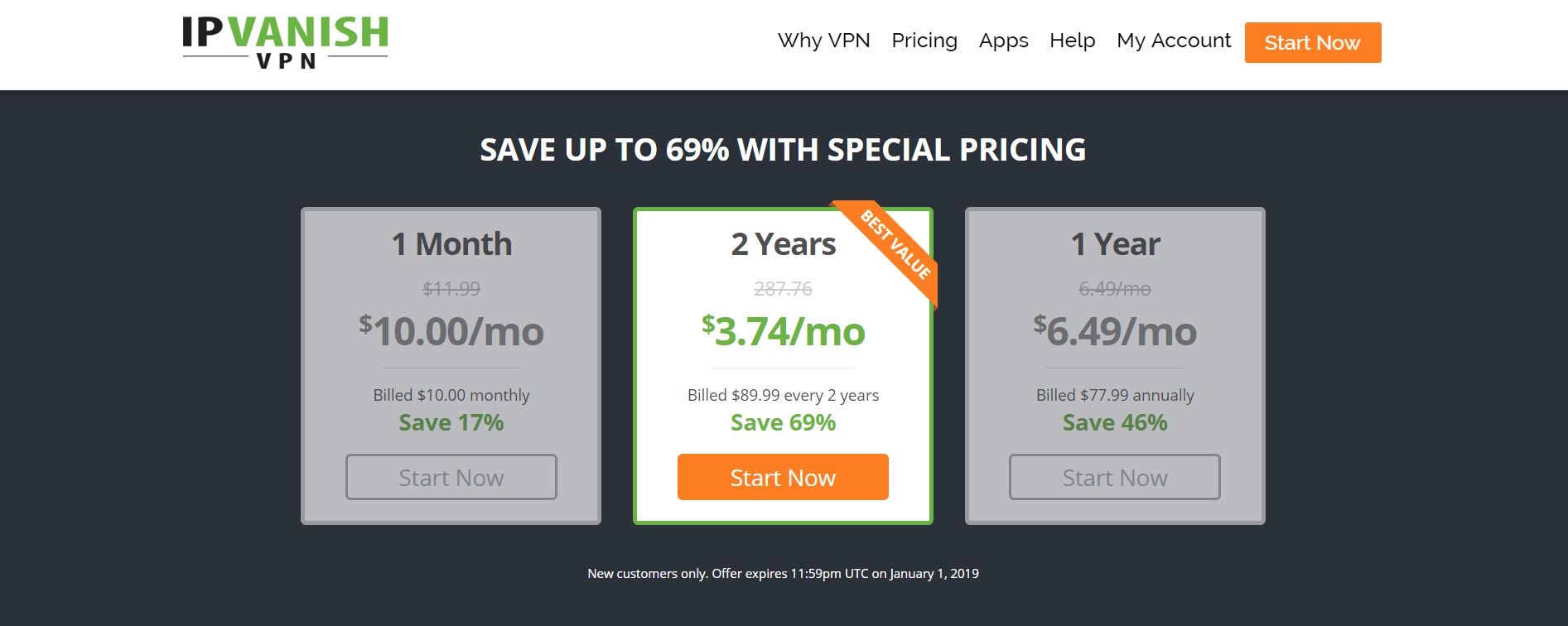 ipvanish vpn pricing