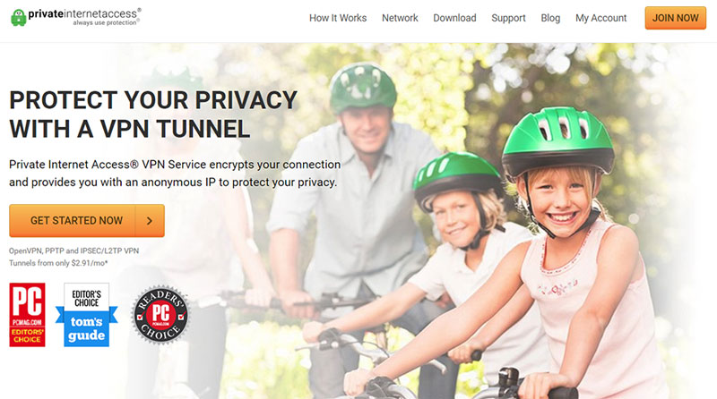 private internet access homepage