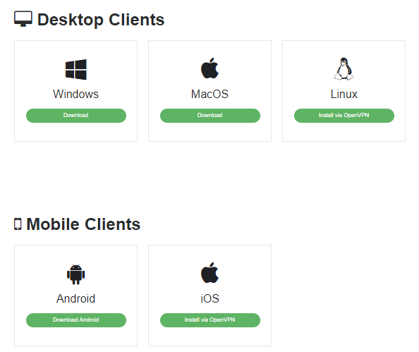 desktop and mobile clients