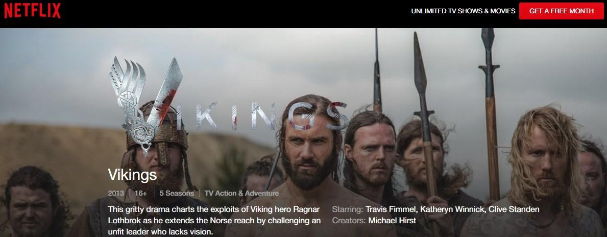 watch vikings on netflix