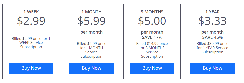 VPN Shield pricing