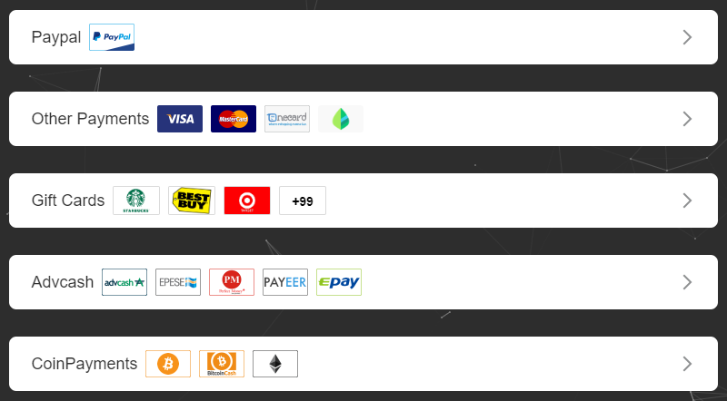 x-vpn payment methods
