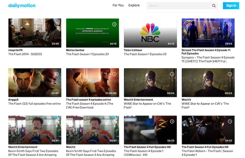 search dailymotion for the flash episodes