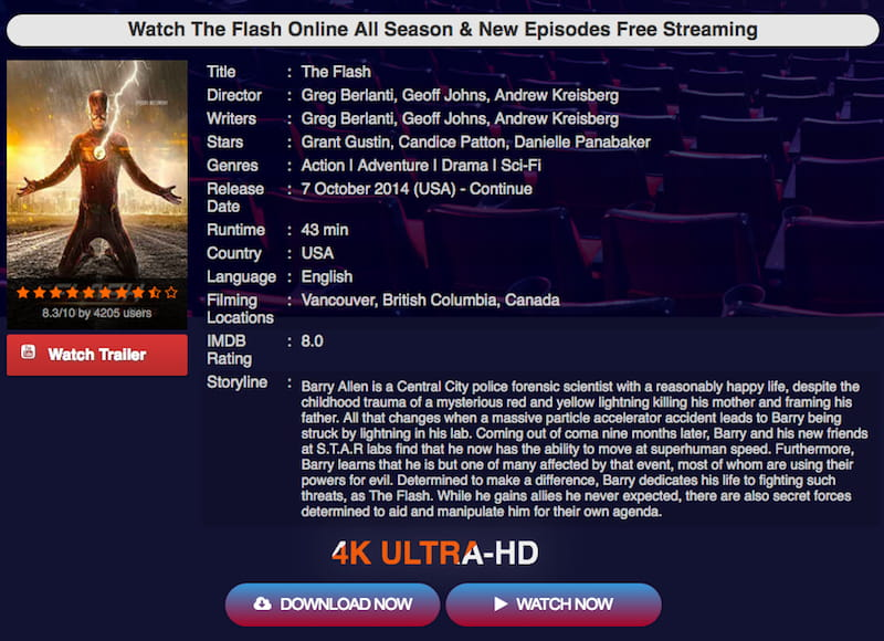 unofficial streaming services for the flash