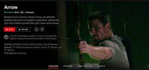 watch arrow online on netflix