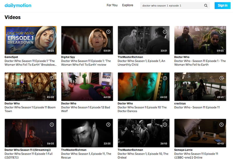 Watch Doctor Who on Dailymotion