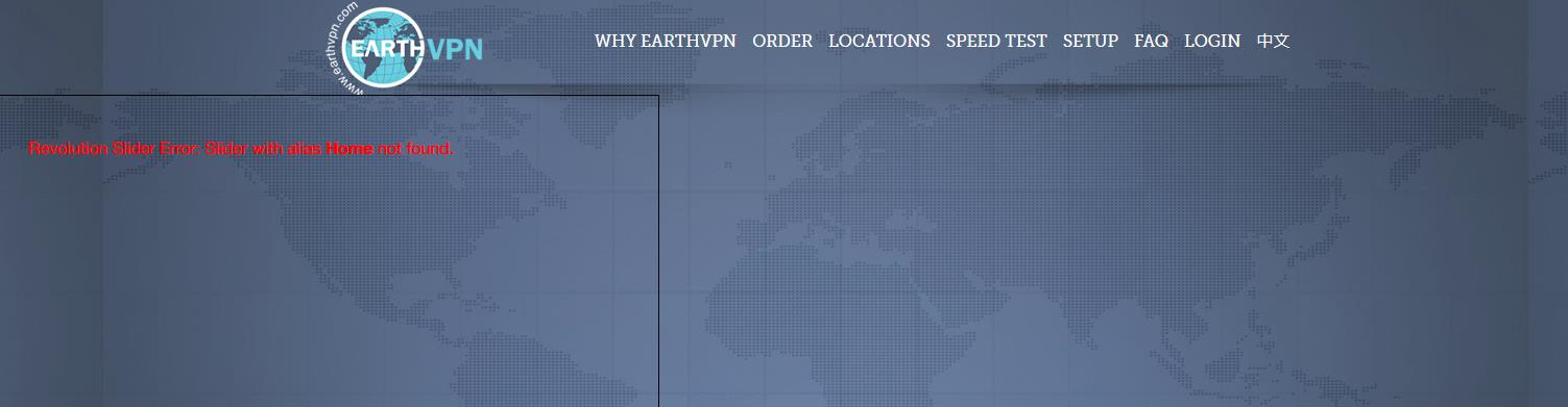 earthvpn homepage
