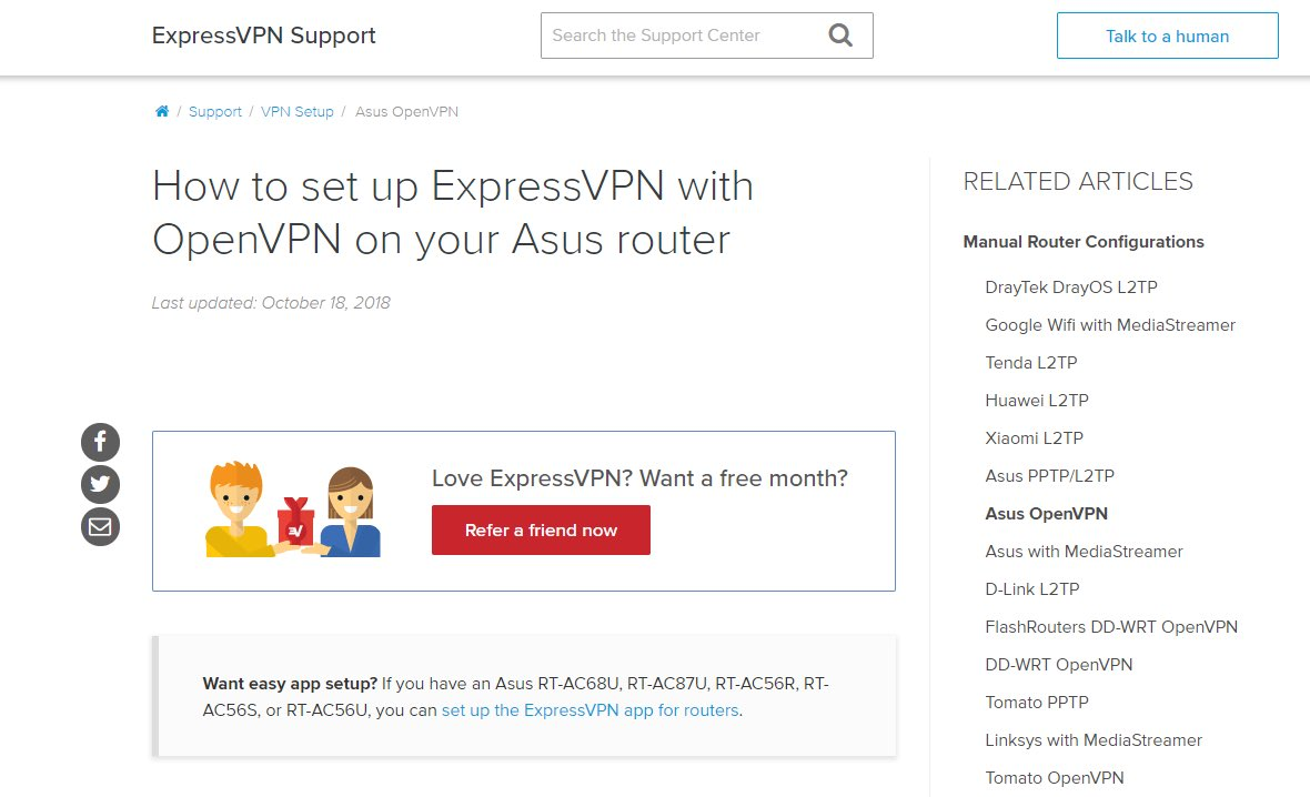 expressvpn router support guide