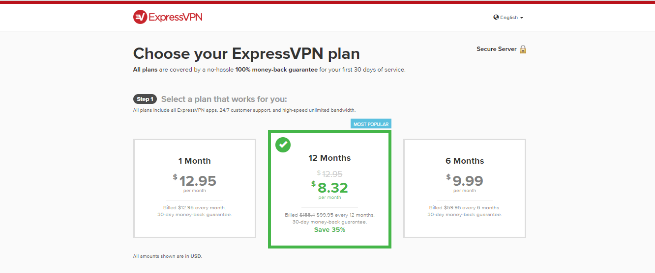 choose VPN subscription