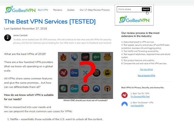 gobestvpn chrome search extension