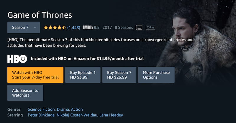 game of thrones amazon