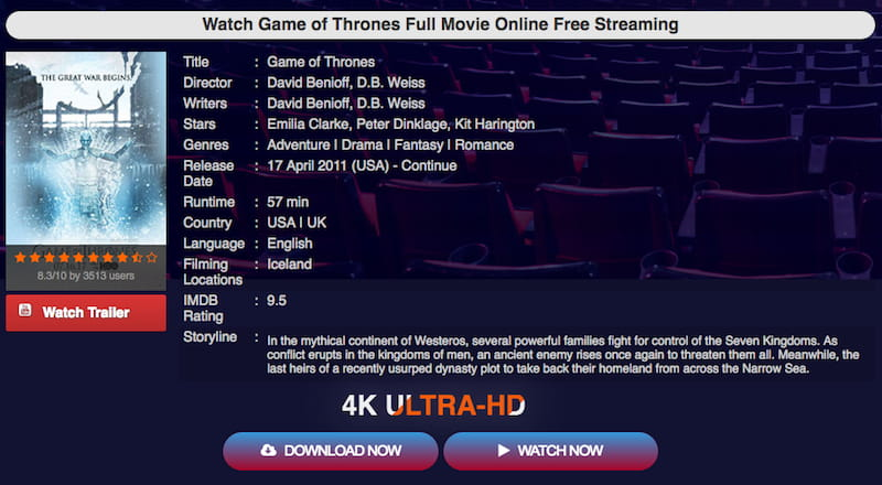 game of thrones unofficial streaming