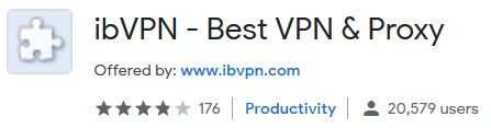 ibVPN chrome plugin