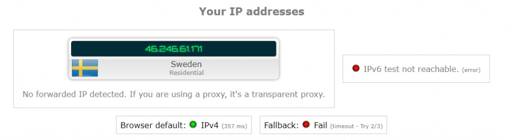 ipredator vpn ip leak test