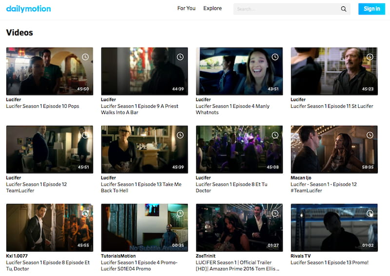 lucifer on dailymotion