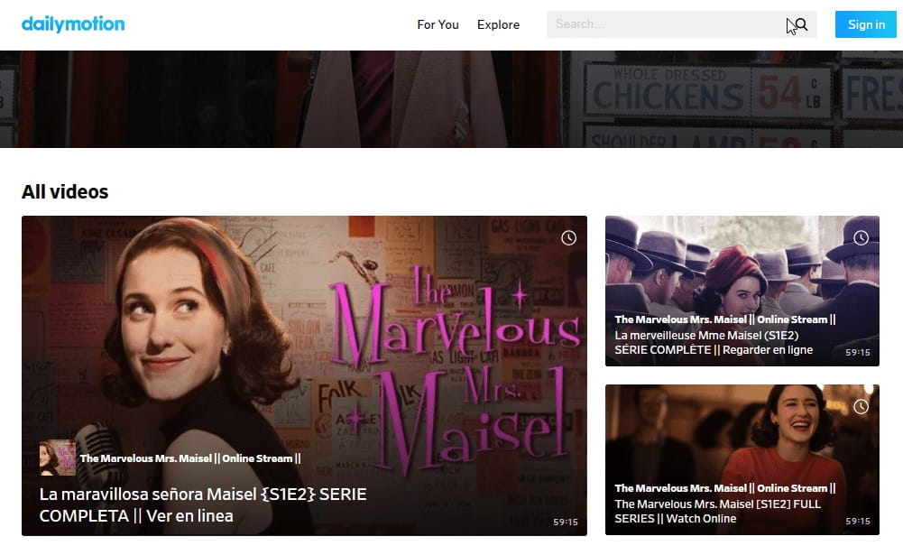 Watch The Marvelous Mrs. Maisel on Dailymotion