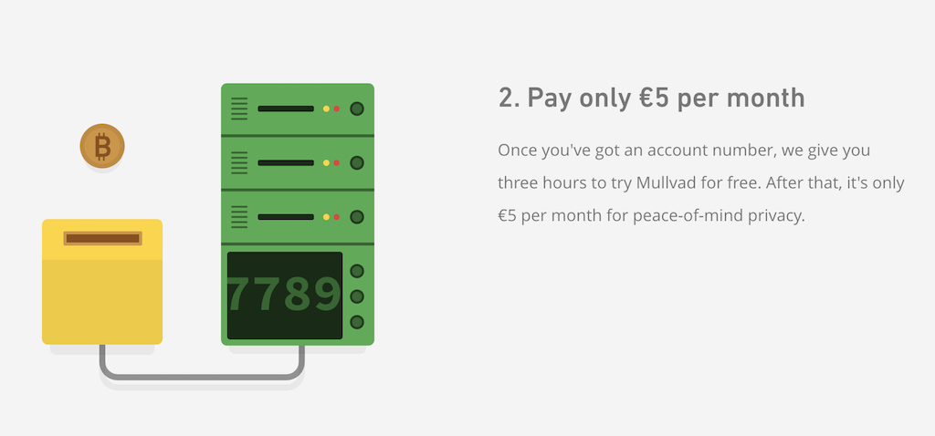 Mullvad VPN pricing