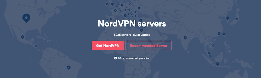 nordvpn server offerings page