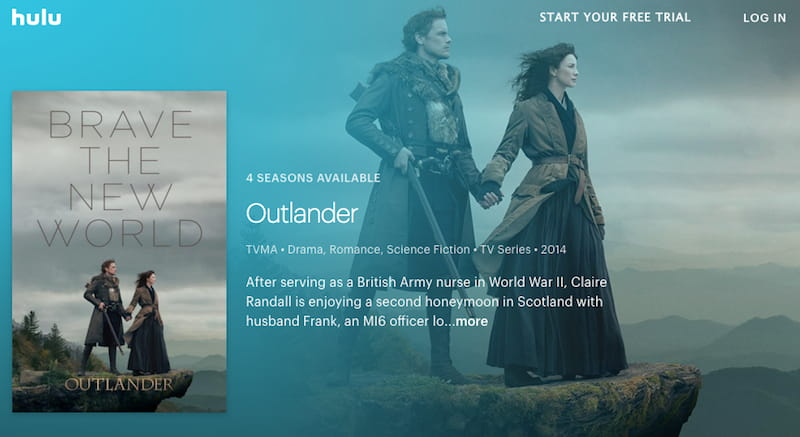 watch outlander online on hulu