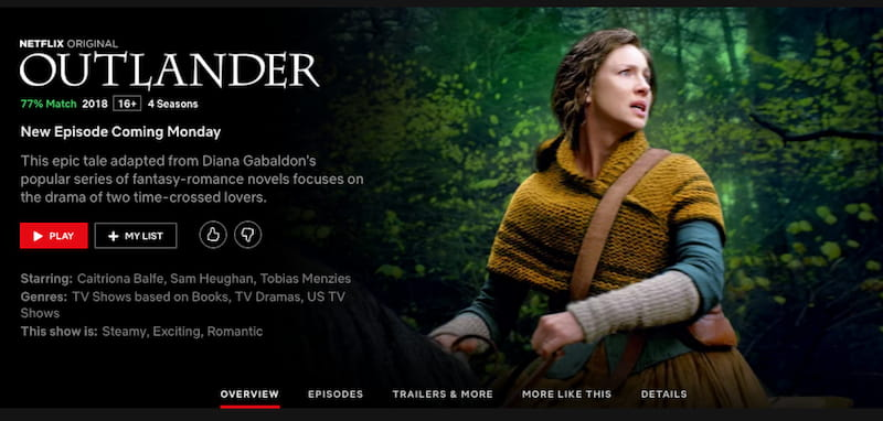 watch outlander online on netflix