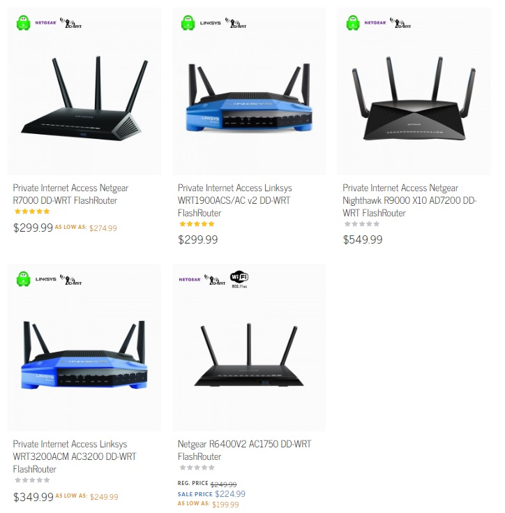 private internet access pre-flashed routers