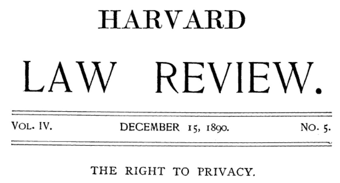 right to privacy 1890