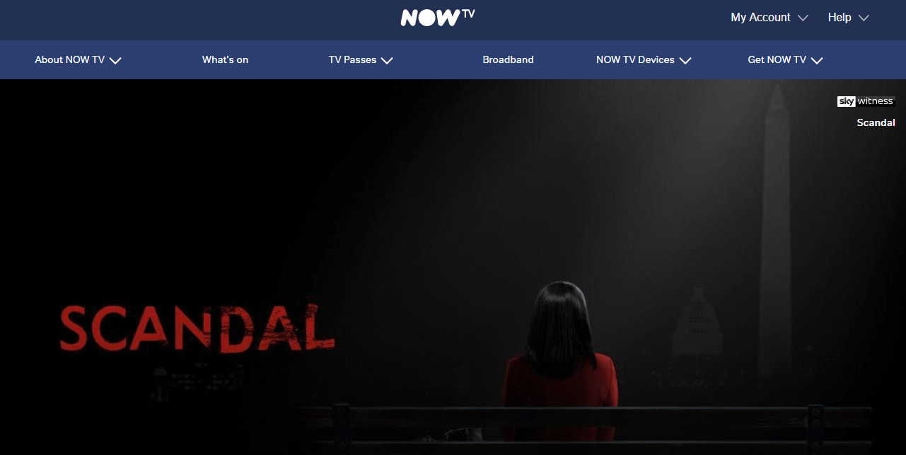 Watch Scandal on Now TV