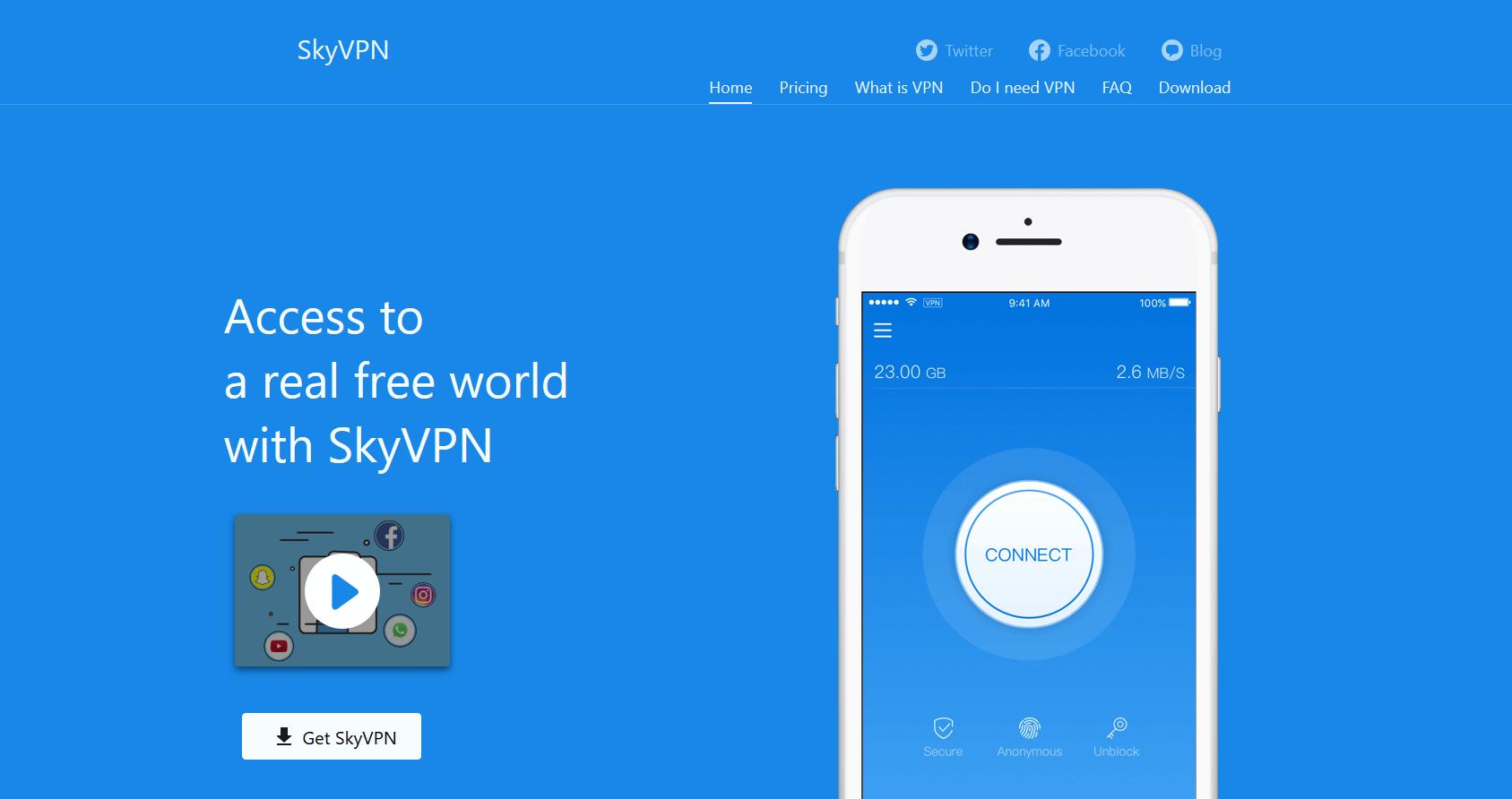 SkyVPN Review (EXTENSIVELY TESTED) | GoBestVPN com