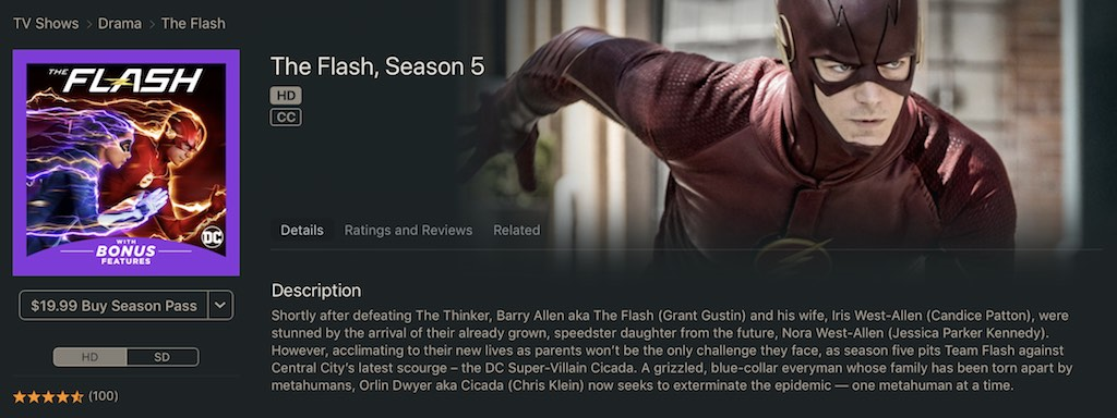 watch the flash on apple store