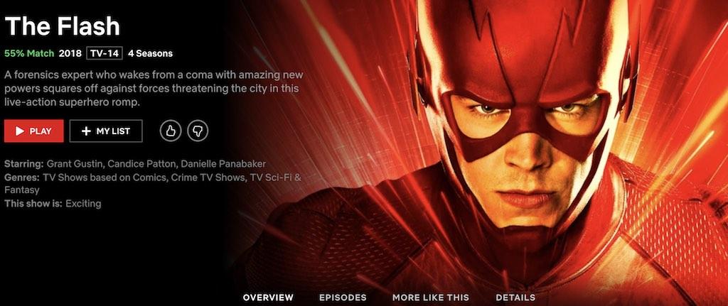 watch the flash on netflix