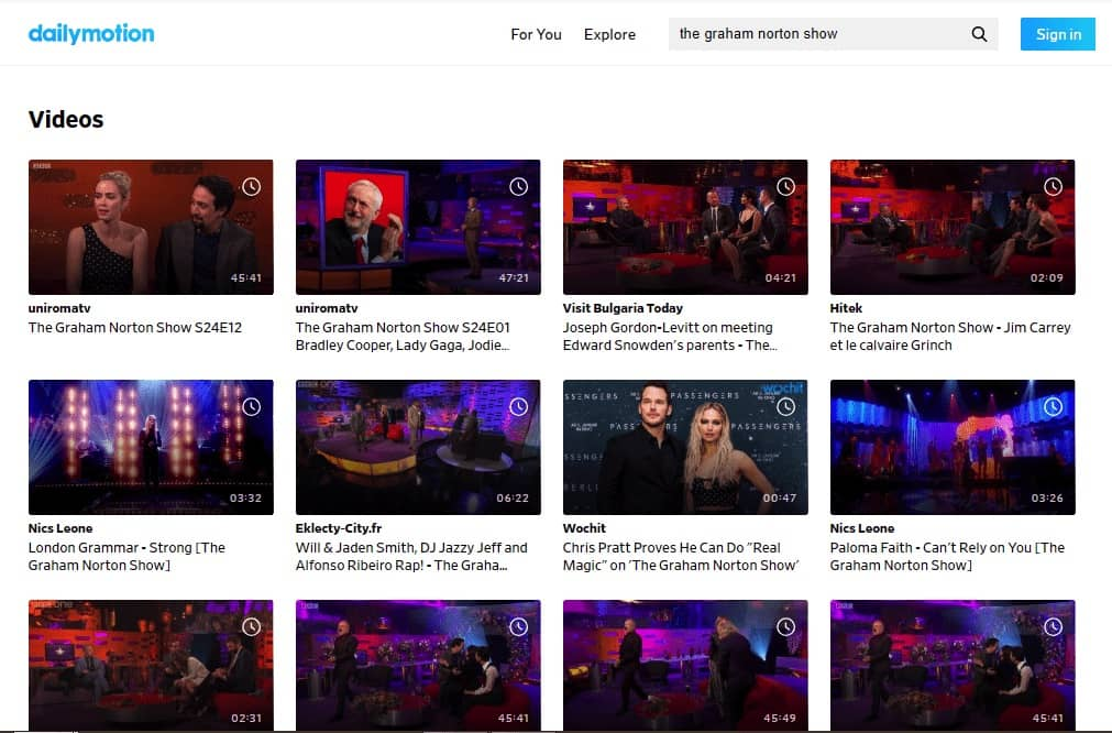 Watch the Graham Norton Show online on Dailymotion