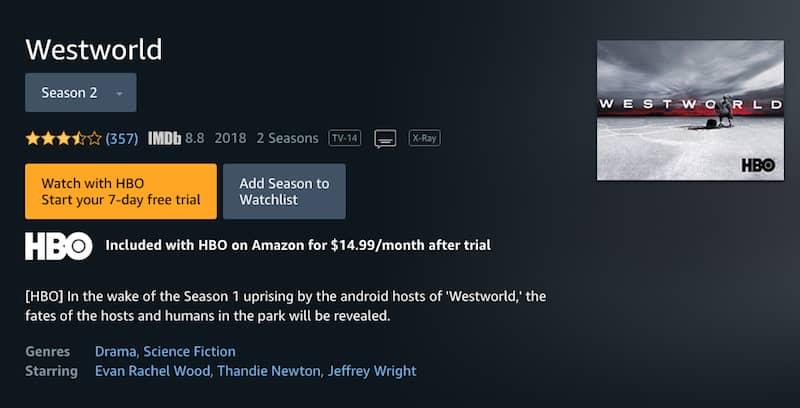 watch westworld online on amazon