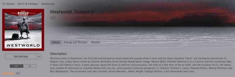 watch westworld online on itunes