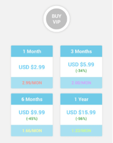 Zero VPN pricing plans