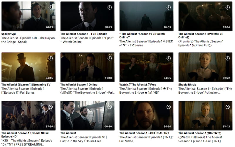 dailymotion alienist search results stream