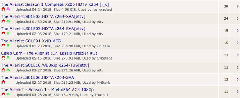 pirate bay search results for alienist season available download