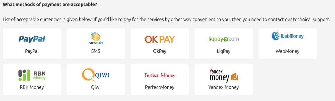 hideman vpn payment methods