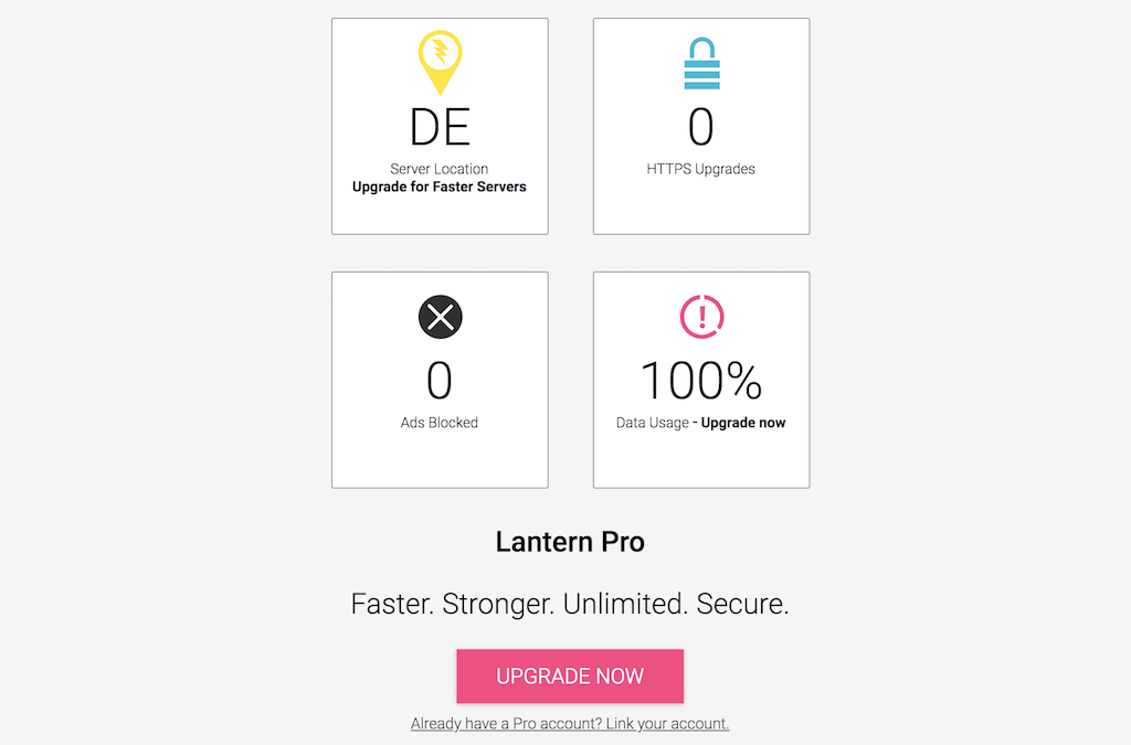 lantern signup connected