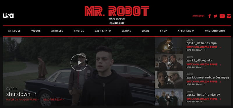 usa network mr robot season stream