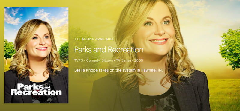 hulu parks recreation poster