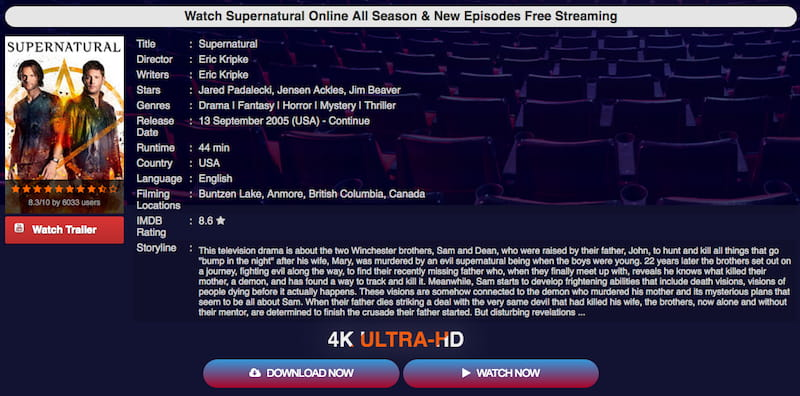 moviecafe supernatural seasons stream