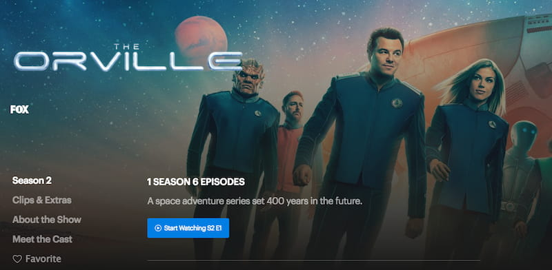 watch the orville on fox