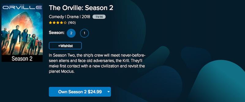watch the orville on vudu