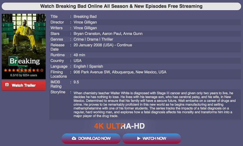 breaking bad moviecafe online streaming