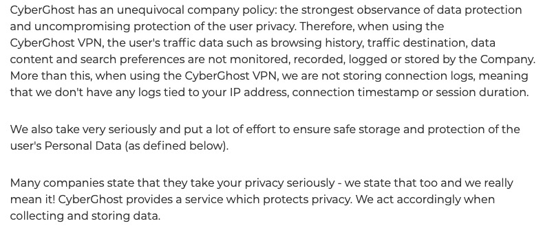 cyberghost transparency report