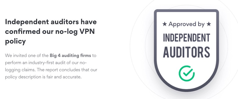nordvpn no log audit