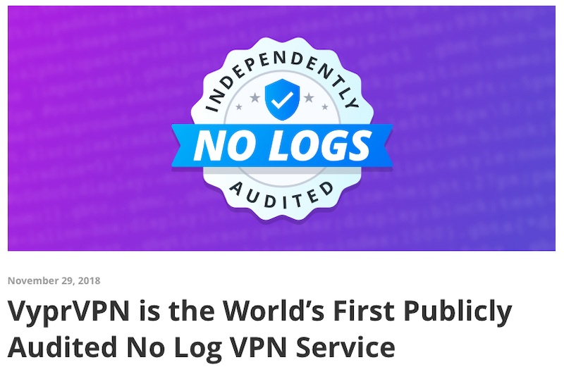 vyprvpn no log audit
