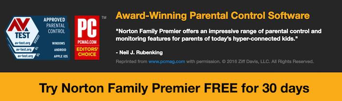norton family premier parental software
